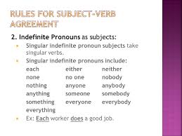 agreement subject verb pronoun antecedent ppt video online download