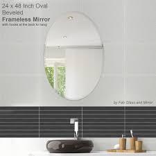 amazon com fab glass and mirror oval beveled polish frameless