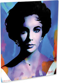 liz taylor art print painting elegant wall decor mark lewis art