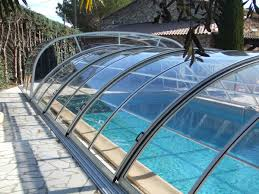 lok raised front telescopic retractable swimming pool cover enclosure