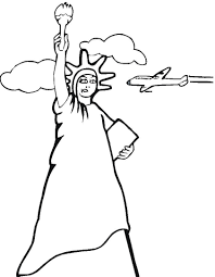 statue of liberty black and white coloring page u2014 allmadecine