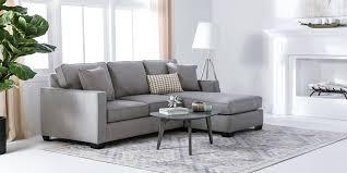 egan sofa w reversible chaise modern living room with egan sofa living spaces