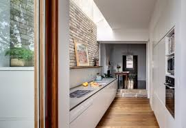 modern kitchen architecture simple modern kitchen design in the house u0027s hallway home