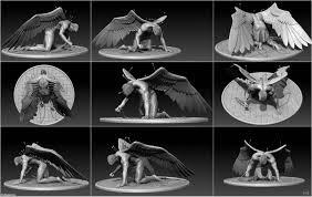 Angel Sculptures Fallen Angel Sculpture By Htbuffalo On Deviantart