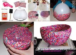 Creative Vase Ideas How To Make Decorative Confetti Bowls Home Design Garden