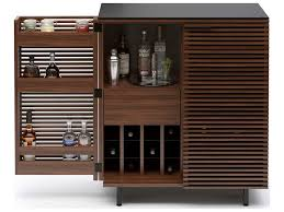 Compact Bar Cabinet Bdi Corridor 36 X 18 5 Chocolate Stained Walnut Compact Bar