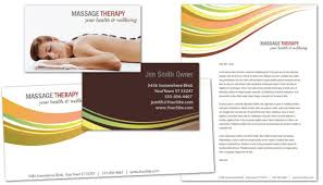 business card template for massage chiropractor physical therapy