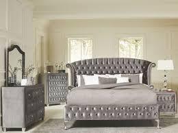 upholstered bedroom set deanna grey upholstered platform bedroom set from coaster