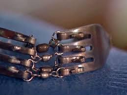 make silver bracelet images Silver fork bracelet diy jpeg
