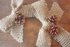 burlap ribbon pinecone ornament factory direct craft