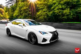 lexus rcf widebody tweaked lexus rc f in matte white and vossen vps 311 wheels