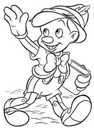 pinocchio disney cartoon coloring pages for kids printable free