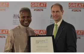 point of light award the earl and countess of wessex meet sri lankan volunteers making a
