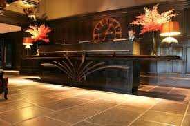 Hotel Reception Desk Decorative Forged Panel And Handrail To Hotel Reception Desk