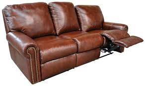 La Z Boy Maverick Mahogany by Lazy Boy Brown Leather Reclining Sofa Centerfieldbar Com