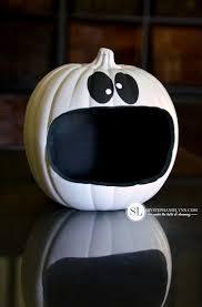 pumpkin black and white pumpkin craft pumpkin candy holders trickyourpumpkin bystephanielynn