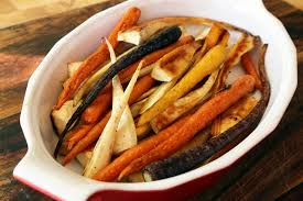 thanksgiving side dish roast carrots and parsnips with honey and
