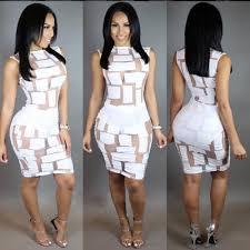 white mesh bodycon dresses ladies night clubbing dresses