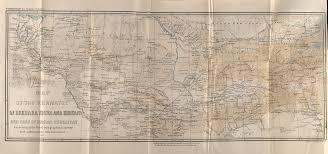 Turkestan Map Map Of The Khanates Of Bukhara Khiva And Khokand And Part Of