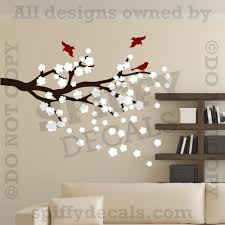 cherry blossoms branch with birds vinyl wall decal decor art cherry blossoms branch with birds vinyl wall decal decor art sticker tree nature ebay