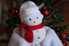 how to make a sock snowman christmas tutorial youtube