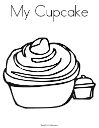 cupcake coloring pages to print my cupcake coloring page twisty noodle