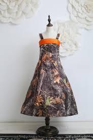 strapless a line camo flower dress kids formal camouflage