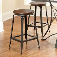 furniture impressive wood and metal bar stools showing dazzling