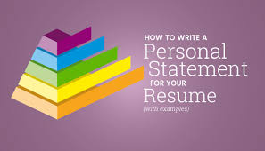 Resume Personal Statement by How To Write A Personal Statement For Your Resume With Examples
