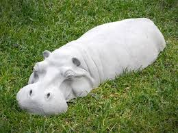 hippopotamus lawn ornament