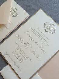 gold wedding invitations filigree frame wedding invitation in blush and gold