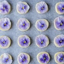 edible blue flowers edible flower cookies recipe tastemade