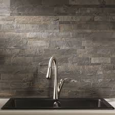 Rock Backsplash Kitchen by Best 25 Slate Backsplash Ideas On Pinterest Stone Backsplash