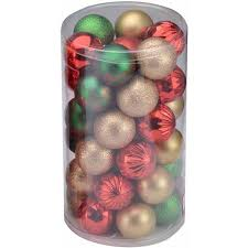 time green gold and shatterproof ornaments