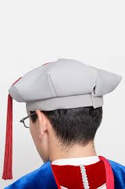 doctoral cap gray cardinal phd regalia phinished gown