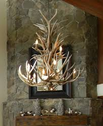 wonderful deer antler chandelier with interior home designing with