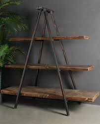 industrial tripod bookcase u2013 allissias attic u0026 vintage french