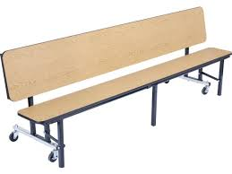 convertible bench cafeteria table plywood protectedge 8