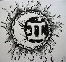 moon and gemini zodiac design