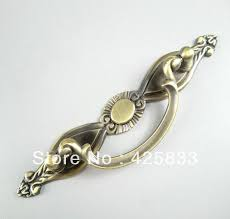 Door Handles Kitchen Cabinets 64mm Antique Brass Plating Closet Handles Kitchen Cabinets Knobs