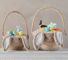 easter basket taupe fur bunny easter basket liners pottery barn kids
