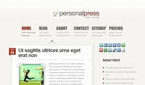 wordpress personal blog themes