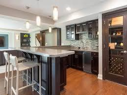 interior attractive interior basement bar ideas with dark brown