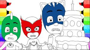 printable coloring pages to learn colors pj masks coloring pages learning color with pj masks cartoon