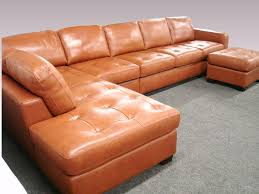 Sectional Couch With Ottoman by Furniture Used Brown Leather Sectional Couch With Ottoman Coffee