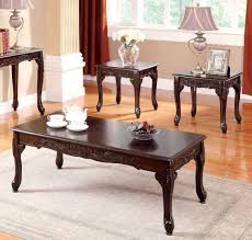 furniture of america cm4914 cheshire 3 pieces traditional cherry