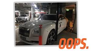 roll royce steelers rich guy buys special cage to protect his rolls royce then wrecks