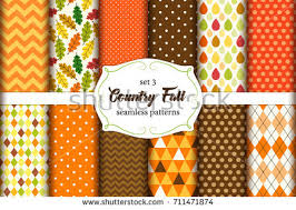 set 12 seamless country fall stock vector 711471874