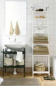 Bathroom Ladder Linen Tower Hawthorne Bathroom Wood Ladder Linen Tower White In The Closet