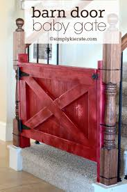 Baby Gate For Stairs With Banister Barn Door Baby Gate Simplykierste Com